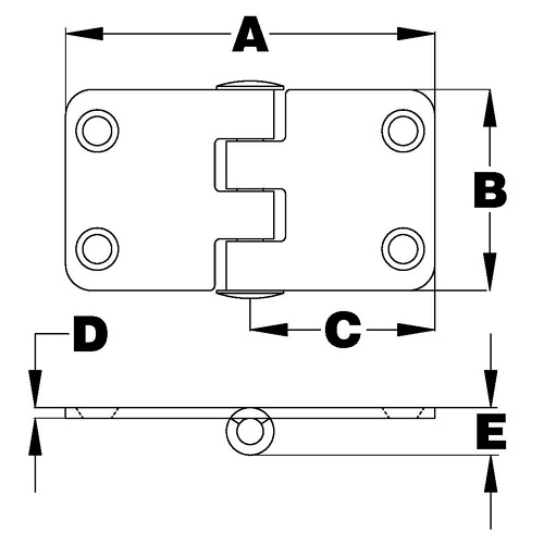 Square Hinges, Bottom Pin 2